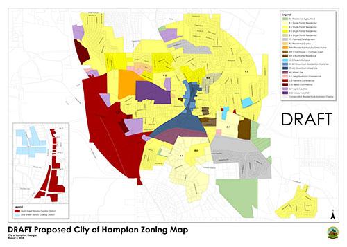 Hampton proposed zoning map DRAFT August 8 thumbnail